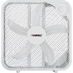 Lorell 3-Speed Box Fan, 4-13/100 inWx20-63/100 inLx21 inH, White
