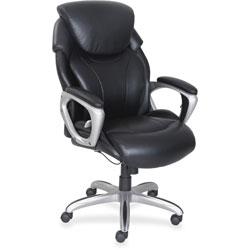 Lorell Executive Chair, 32-1/2 in x 28-1/2 in x 49 in, Black