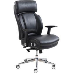 Lorell Chair, Lumbar Support, 28-1/2 inWx31 inLx46-3/4 inH, Black