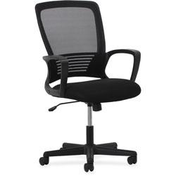 Lorell Sandwich Seat Chair, 22-1/4 in x 22-1/2 in x 2 in, Black