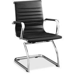 Lorell Modern Midback Chair, 25 in x 26 in x 38 in, Black