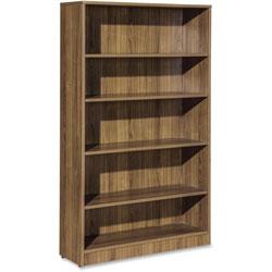 Lorell 5-Shelf Bookcase, 36 in x 12 in x 60, Walnut