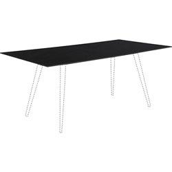 Lorell Rectangular Glass Tabletop, 36 in x 72 in x 32 in, Black