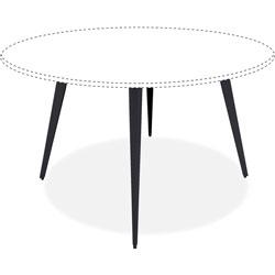 Lorell Table Base for 42 in/48 in Tops, Steel, 35 in x 35 in x 28-1/2 in, Black