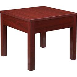 Lorell Corner Table, 24 inx24 inx20 in, Mahogany