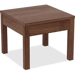 Lorell Corner Table, 24 in x 24 in x 20', Walnut
