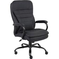 Lorell Executive Chair, Dbl Cushion, 33-1/2 in x 31 in x 45-1/2 in, Black
