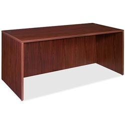 Lorell Rectangular Desk Shell,66 inx30 inx29-1/2 in,Mahogany