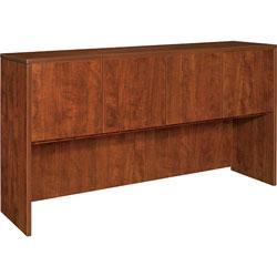 Lorell Hutch w/Doors, 66 inx36 inx15 in, Cherry
