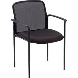 Lorell Reception Side Chair, 23-3/4 inx23-1/2 inx33 in, Black