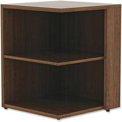 Lorell Square Bookcase, 23-5/8 in x 29-1/2 in, Walnut