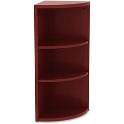 Lorell Corner Bookcase, 14-4/5 in x 14-4/5 in x 36 in, Mahogany