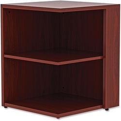 Lorell Square Bookcase, 23-3/5 in x 23-3/5 in x 29-1/2 in, Mahogany