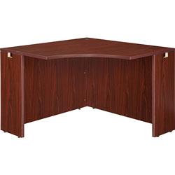 Lorell Corner Desk, 42 in x 42 in x 24 in x 29-1/2 in, Mahogany