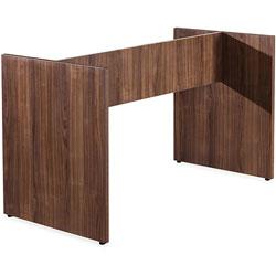 Lorell 2-Leg Table Base, Walnut