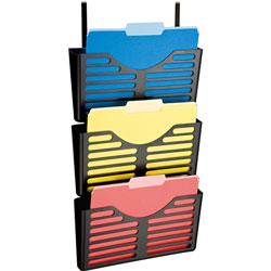 Lorell Pocket File w/Hanger, 3/PK, Black