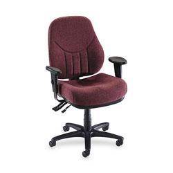 "Lorell Adjustable Highback Chair, 26 7/8"" WX28"" DX40 1/2 44"" H, Burgundy"