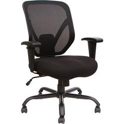 Lorell Chair, Mesh Back, 29-1/2 inWx29-1/2 inLx42-1/10 inH, Black