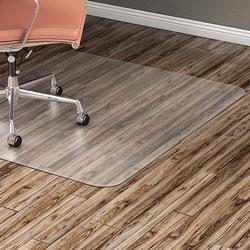 Lorell Hard Floor Chairmat, 46 inx60 in, Clear