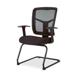 "Lorell Guest Chair, Mesh Fabric, 27""x27-3/4"", 41"", Black"