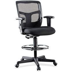 Lorell Mid-Back Stool Chair, 26 inx21 inx50 in, Black