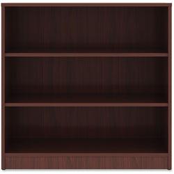 Lorell 3-Shelf Bookcase, 36 in x 12 in x 36 in, Mahogany