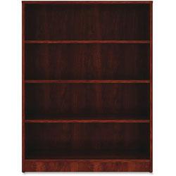 Lorell 4-Shelf Bookcase, 36 in x 12 in x 48 in, Cherry