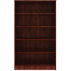 Lorell 5-Shelf Bookcase, 36' x 12 in x 60 in, Cherry