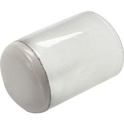 Lorell Floor Protectors Sleeve Sliders, 1 in, 8/BG, Clear