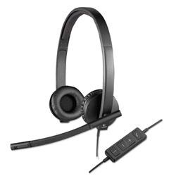 Logitech USB H570e Over-the-Head Wired Headset, Binaural, Black