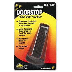 Master Caster Big Foot Doorstop, Brown, 2w x 4 1/2l x 1 1/4h