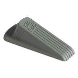 Master Caster Big Foot Doorstop, No-Slip Rubber, 2.25w x 4.75d x 1.25h, Gray, 12/Pack