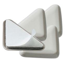 Master Caster Cabinet Floor Savers, Triangular, 7w x 1.13d x 8h, Beige, 4/Pack
