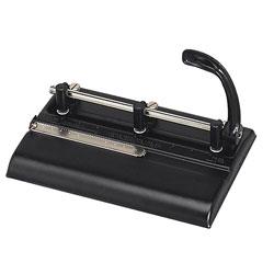 "Master Pro Master Mfg® 32 Sheet High Capacity Lever Action Adjustable Hole Punch, 11/32"" Dia., Black"