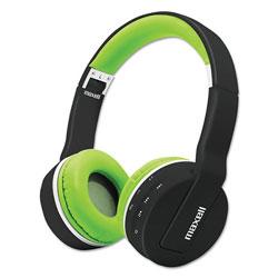 Maxell Bluetooth Headphone with MIC, Black/Green