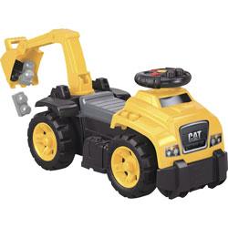 Mega Bloks Cat 3-In-1 Excavator Ride-On, Age 1-3, Yellow