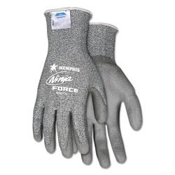 Memphis Glove Ninja Force Polyurethane Coated Gloves, X-Large, Gray, Pair