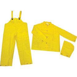 MCR Safety Rainsuit, 3 Piece, X-Large, Yellow