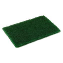 Disco Medium Duty Scouring Pad, 6 x 9, Green, 10 per Pack, 6 Packs/Carton