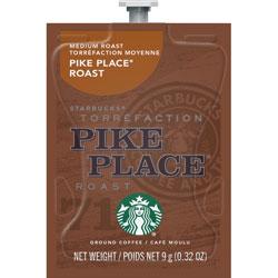 Starbucks Med Roast Coffee, Pike Place, Freshpack, 80/CT