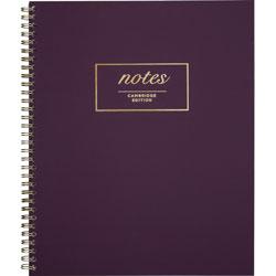Cambridge Fashion Twinwire Business Notebook, 11 x 9, Purple. 80 Sheets