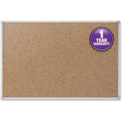 Mead Cork Board, 2 inx1-1/2 in, Aluminum