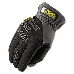 Mechanix Wear FastFit Work Gloves, Black/Gray, Large