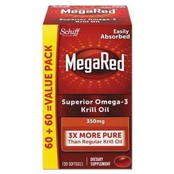 MegaRed® Omega-3 Krill Oil Softgel, 120/Bottle