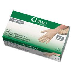 Curad Stretch Vinyl Exam Gloves Powder Free X Large