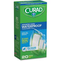 Medline Waterproof Transparent Bandages, Assorted Size, 20/BX, Clear