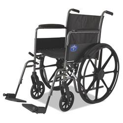 Medline Excel K1 Basic Wheelchair, 18w x 16d, 300lb Cap