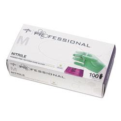 Medline Professional Nitrile Exam Gloves with Aloe, Medium, Green, 100/Box