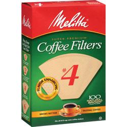 Melitta Premium Coffee Filters, No.4, 100/PK