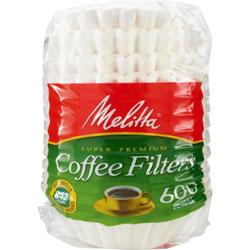 Melitta Super Premium Coffee Filters, 600/PK, White